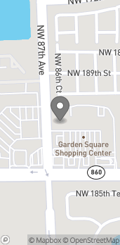 Map of 8649 NW 186th St in Miami Gardens