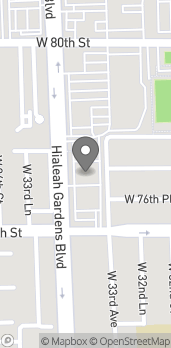 Map of 7725 W 33rd Ave in Hialeah