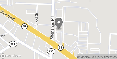 Map of 724 Shenango Road in Beaver Falls