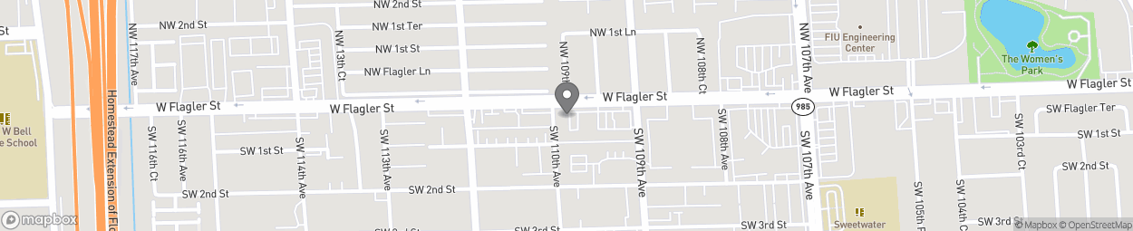 Map of 10940 West Flagler Street in Sweetwater