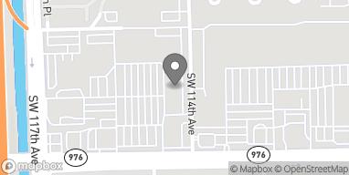 Mapa de 11441 SW 40th Street en Miami