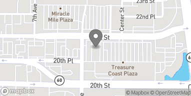 Map of 2048 Treasure Coast Plaza in Vero Beach