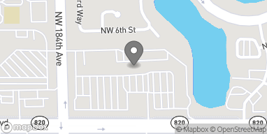 Map of 18275 Pines Blvd in Pembroke Pines