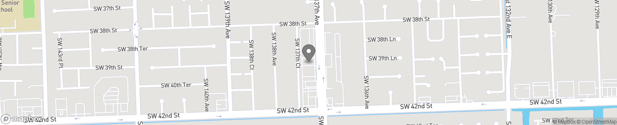 Map of 3980 SW 137th Ave in Miami