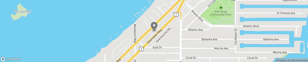 Map of 99256 Overseas Highway in Key Largo