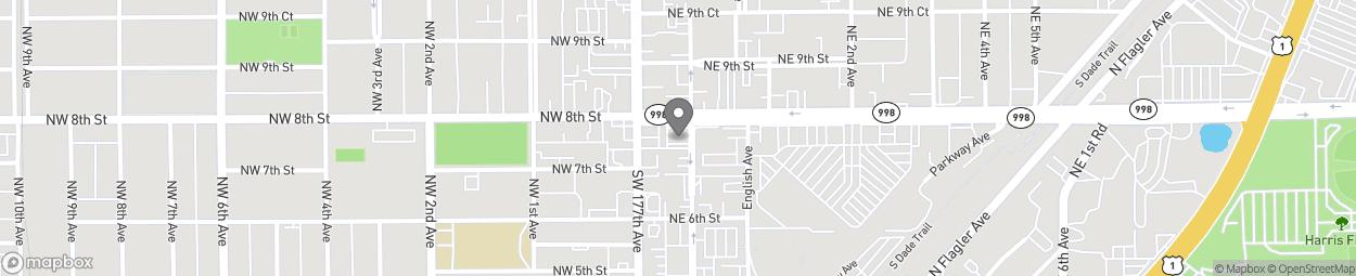 Map of 50 NE 8th Street in Homestead
