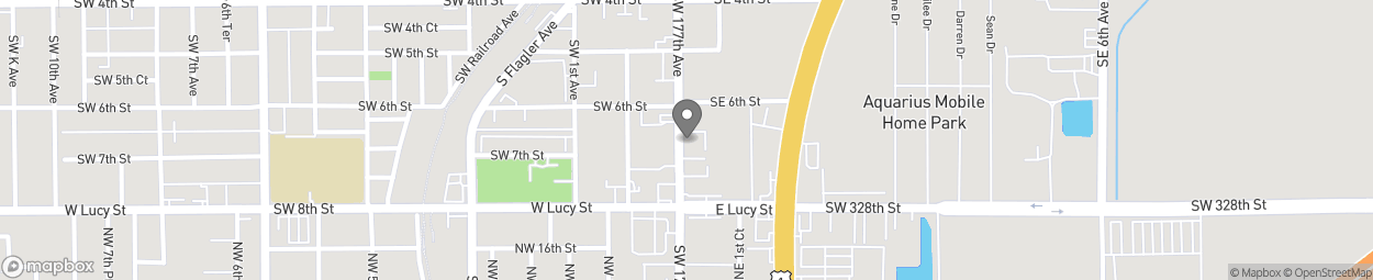 Map of 631 S Krome Ave in Homestead