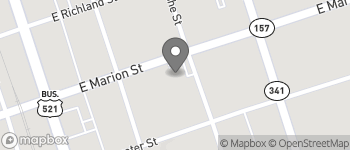 Map of 216 E Marion Street in Kershaw