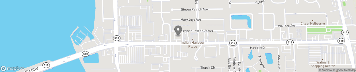 Map of 420 E Eau Gallie Blvd in Indian Harbour