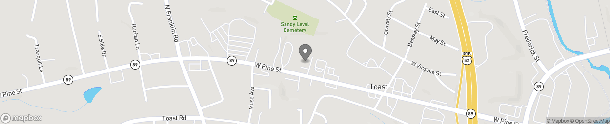 Map of 984 West Pine St in Mount Airy