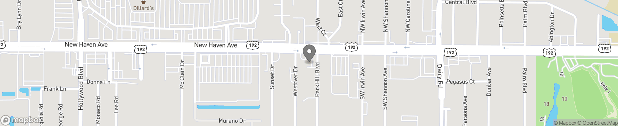 Map of 1355 New Haven Ave W in W. Melbourne