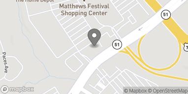 Map of 1909 Matthews Township Pkwy in Matthews