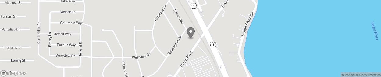 Map of 806 Dixon Boulevard in Cocoa