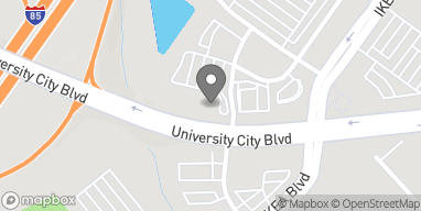 Map of 6925 University City Blvd in Charlotte