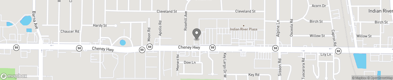 Map of 820 Cheney Highway in Titusville