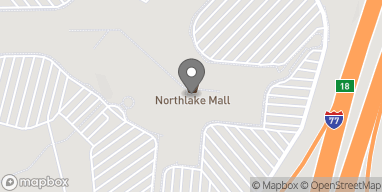 Map of 6801 Northlake Mall Drive in Charlotte
