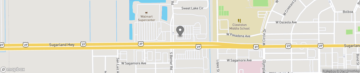 Map of 959 W Sugarland Highway in Clewiston