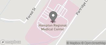 Map of 595 West Carolina Ave in Varnville