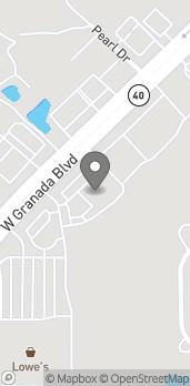 Mapa de 1298 W Granada Blvd en Ormond Beach