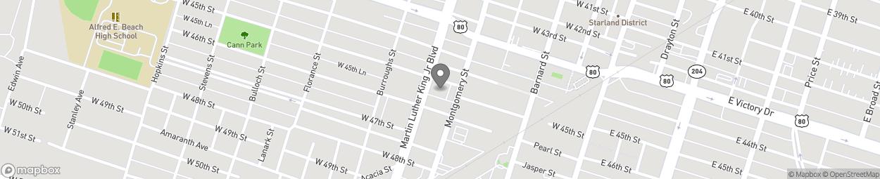 Map of 2815 Montgomery Street in Savannah