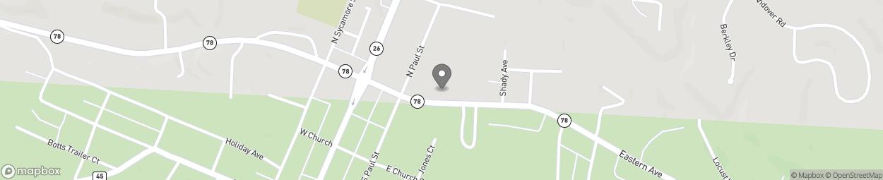 Map of 212 Eastern Avenue in Woodsfield