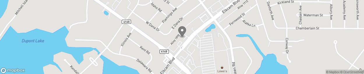 Map of 2758 Elkcam Blvd in Deltona