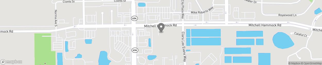 Map of 204 E Mitchell Hamock Rd in Oviedo