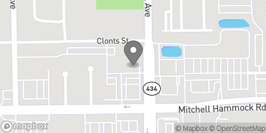 Map of 45 Mitchell Hammock Road in Oviedo
