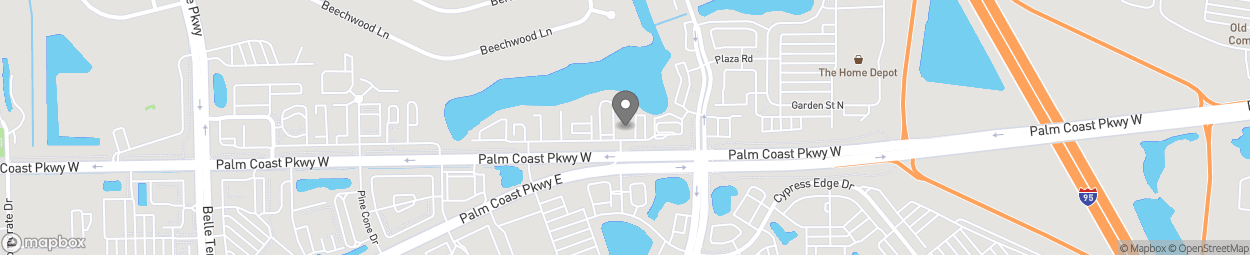 Map of 1010 Palm Coast Pkwy NW in Palm Coast