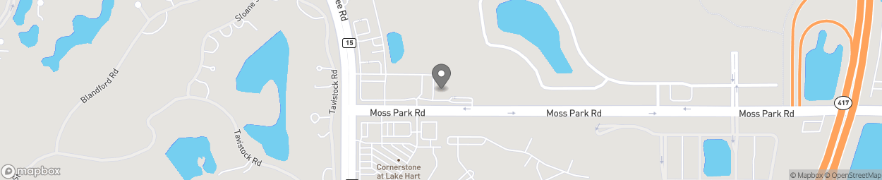 Map of 10473 Moss Park Rd in Orlando