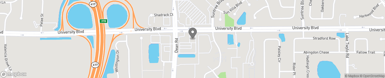 Map of 10060 University Blvd in Orlando