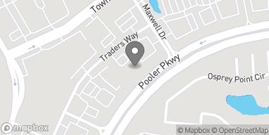 Mapa de 155 Traders Way en Pooler