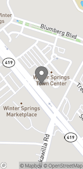 Map of 1184 E. State Road 434 in Winter Springs