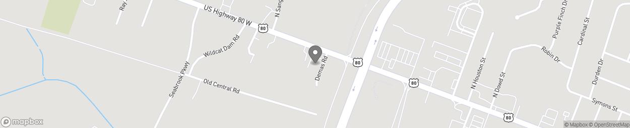 Map of 1131 Highway 80 West in Pooler