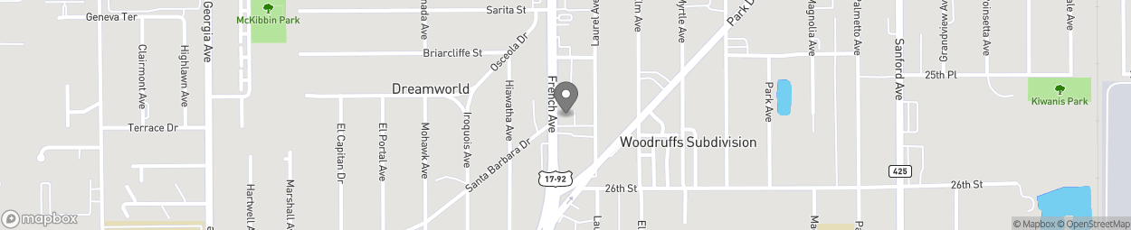 Map of 2565 French Ave in Sanford