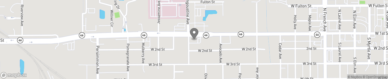 Map of 1315 West 1st Street in Sanford