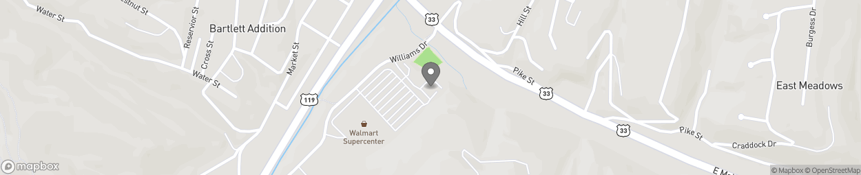 Map of 45 Williams Drive in Spencer