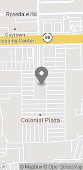 Map of 2608 E Colonial Drive in Orlando