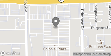 Map of 2608 E Colonial Drive in Orlando