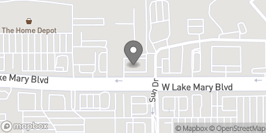 Map of 4300 W Lake Mary Blvd in Lake Mary