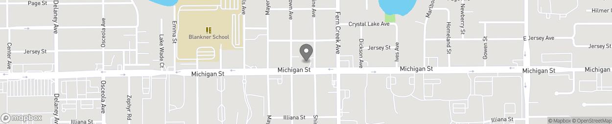 Map of 1479 East Michigan Street in Orlando