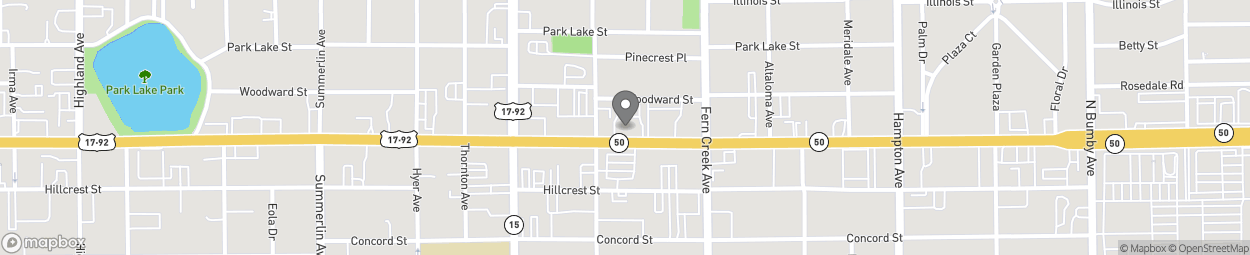 Map of 1405 E Colonial Drive in Orlando