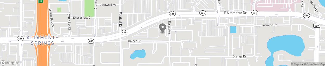 Map of 394 E Altamonte Drive in Altamonte Sprin