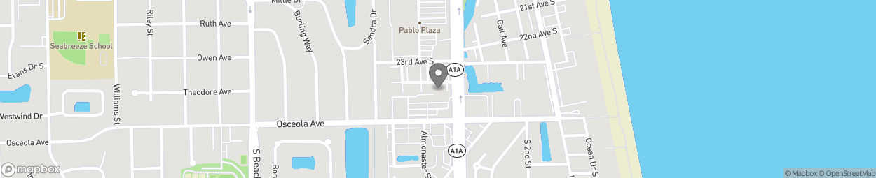 Map of 2350 S 3rd Street in Jacksonville Beach