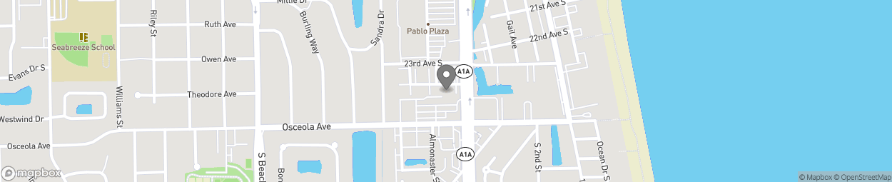Map of 2350 S 3rd Street in Jacksonville Be