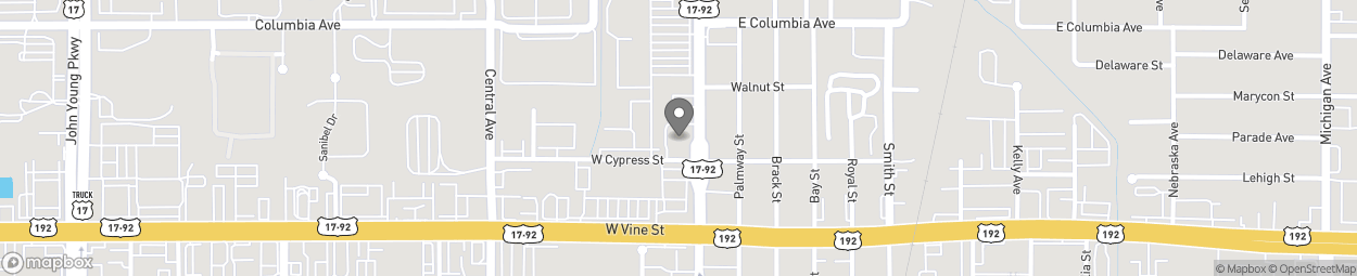 Map of 1608 N Main St in Kissimmee