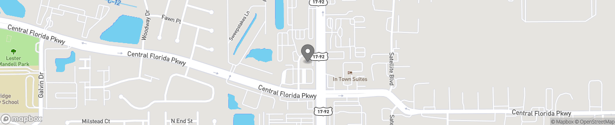 Map of 10937 South Trail Circle in Orlando
