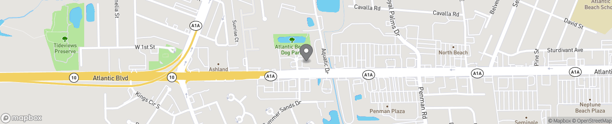 Map of 1051 Atlantic Blvd in Atlantic Beach