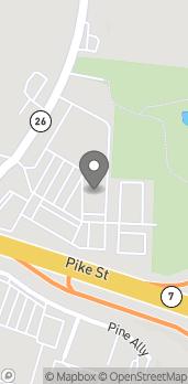 Map of 22 Acme St in Marietta