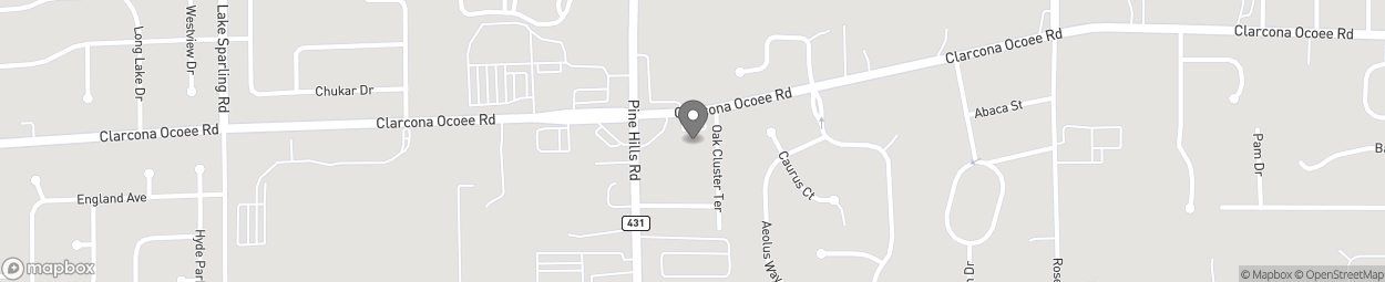 Map of 5440 Clarcona Ocoee Rd in Orlando
